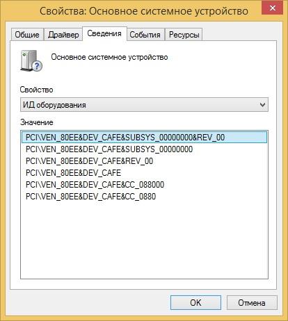 Поиск драйверов для неизвестных устройств в Windows: id оборудования или код экземпляра устройства