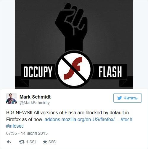 Mozilla полностью заблокировала Flash в Firefox