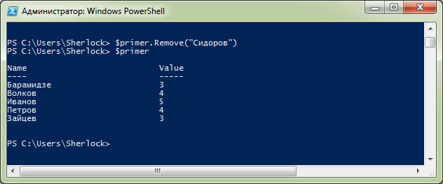 Хэш-таблицы в Windows PowerShell