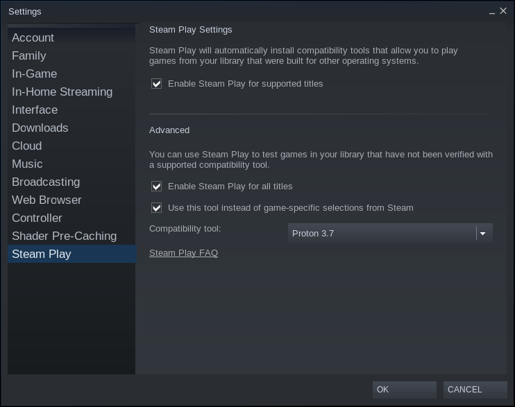 Steam облегчает запуск игр для Windows в Linux