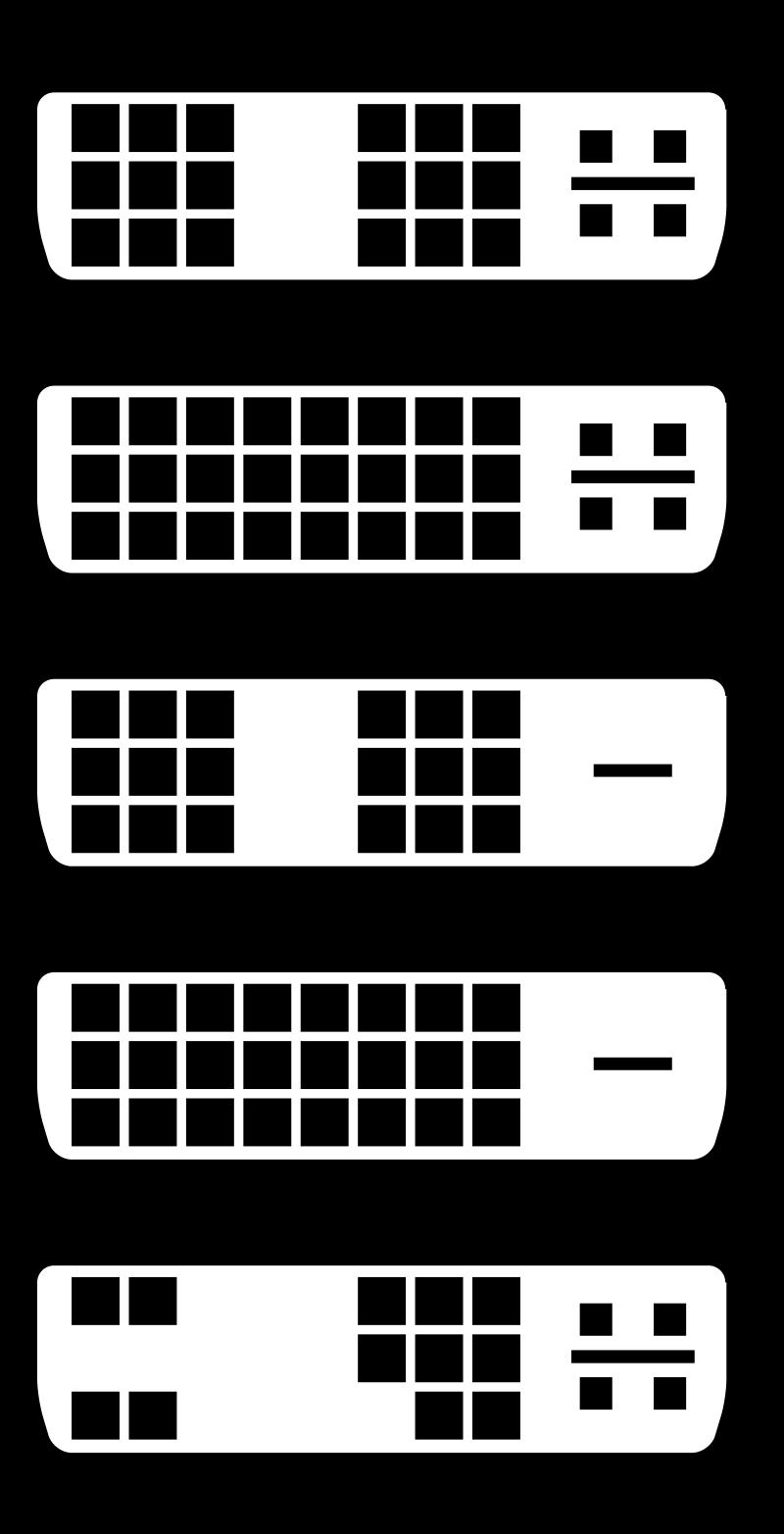 DVI Connector Types