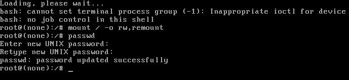 Восстановление пароля администратора в Linux