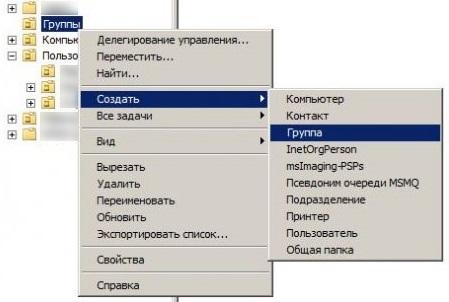 Группы пользователей в Windows - группы в Active Directory