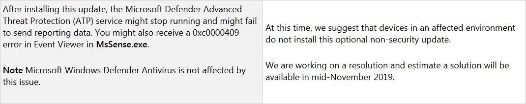 Microsoft рекомендует удалить KB4520062 из-за ошибок