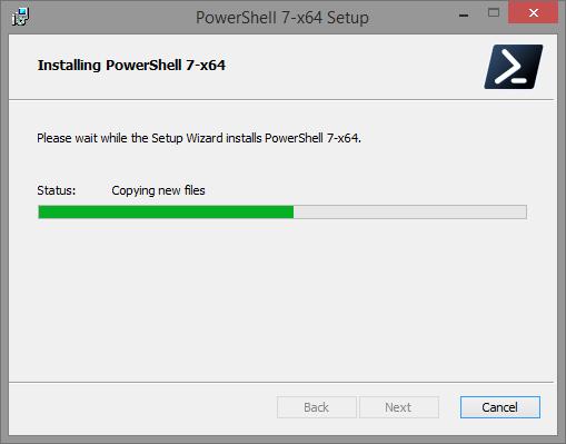 Установка PowerShell 7.0 в Windows