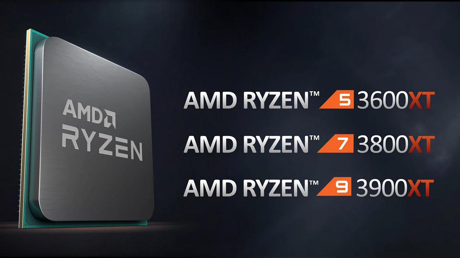 AMD представила процессоры серии Ryzen 3000XT