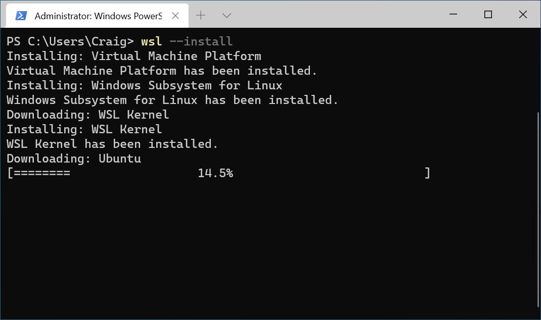 Простой способ установки Windows Subsystem for Linux (WSL)