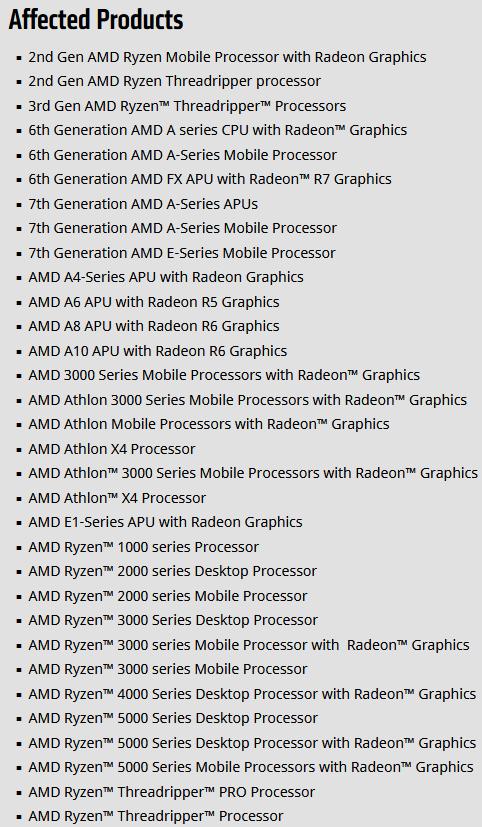 Уязвимость CVE-2021-26333 в драйверах чипсетов AMD